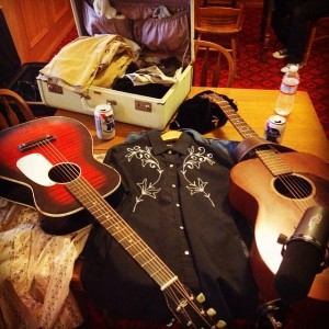 Props, costumes, and guitars